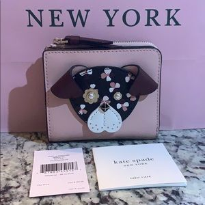 NWT Authentic Kate Spade small L-zip Bifold Wallet